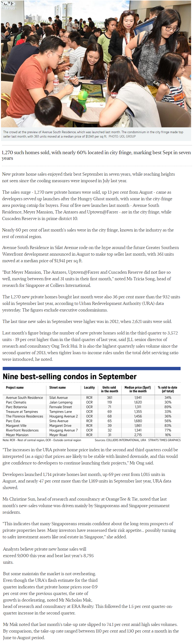 Pasir Ris 8 - New private Home Sales Hit A Hight In September