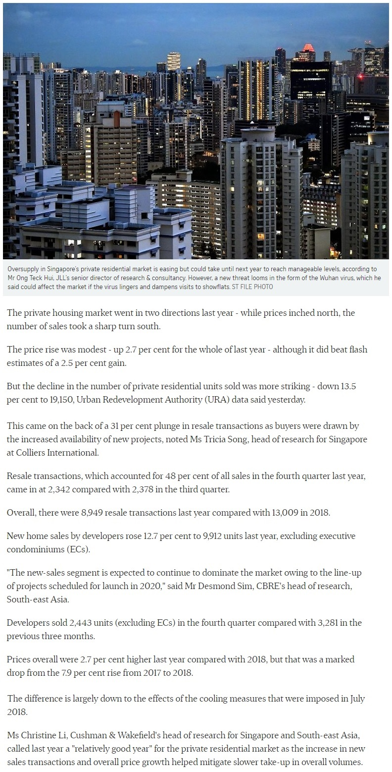 Pasir Ris 8 - Singapore private home prices inch up 2.7 for 2019 1