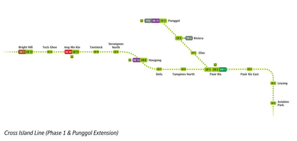 Pasir Ris 8 - CRL Phase 1 Map